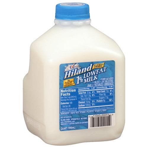 Hiland 1% Lowfat Milk, 1 qt