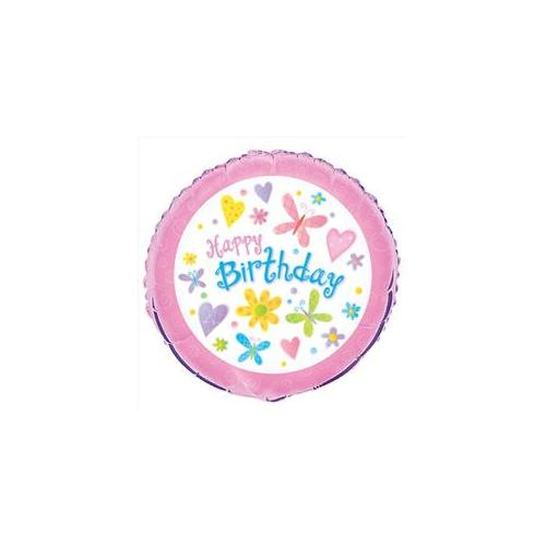 Unique Industries 23741 Cute Birthday 18 inch Foil Balloon Packaged - 240 Packs