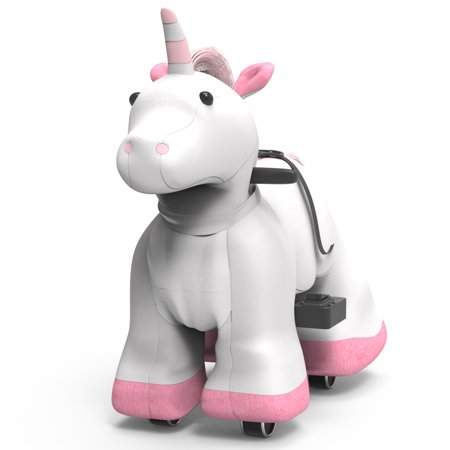 Rechargeable 6V/7A Plush Animal Ride On Toy for Kids (3 ~ 7 Years Old) With Safety Belt