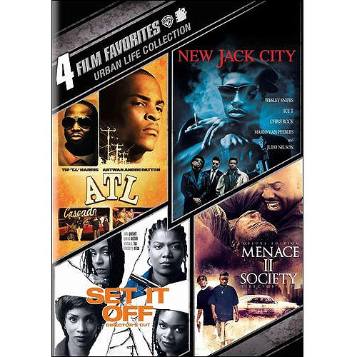 4 Film Favorites: Urban Life - ATL / New Jack City / Set It Off / Menace II Society (Widescreen)