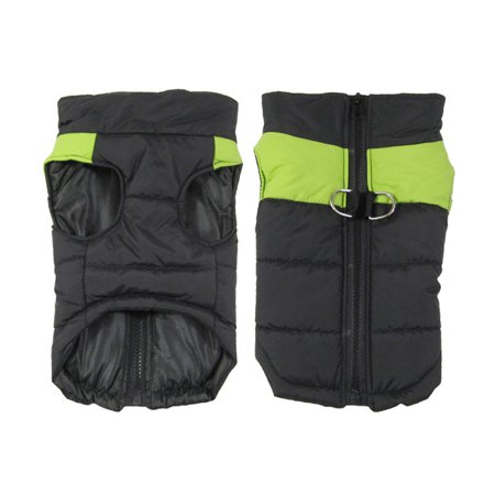 CBD Cold Weather Dog Clothes Waterproof Warm Vest Jacket Pet Winter Coat Green Large size