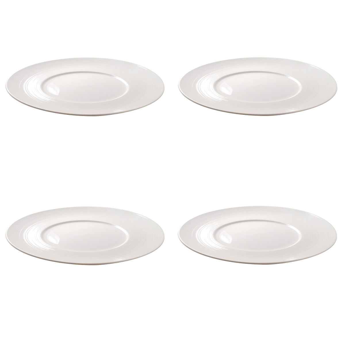 4 Vertex China Radiance 12  White Embossed Dinner Plates Restaurant RA-21N  sc 1 st  Walmart & 4 Vertex China Radiance 12