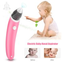 WALFRONT Baby Electric Nasal Aspirator, Portable Infant Kids Nasal Suction Machine Nose Cleaner Snot Sucker Tools