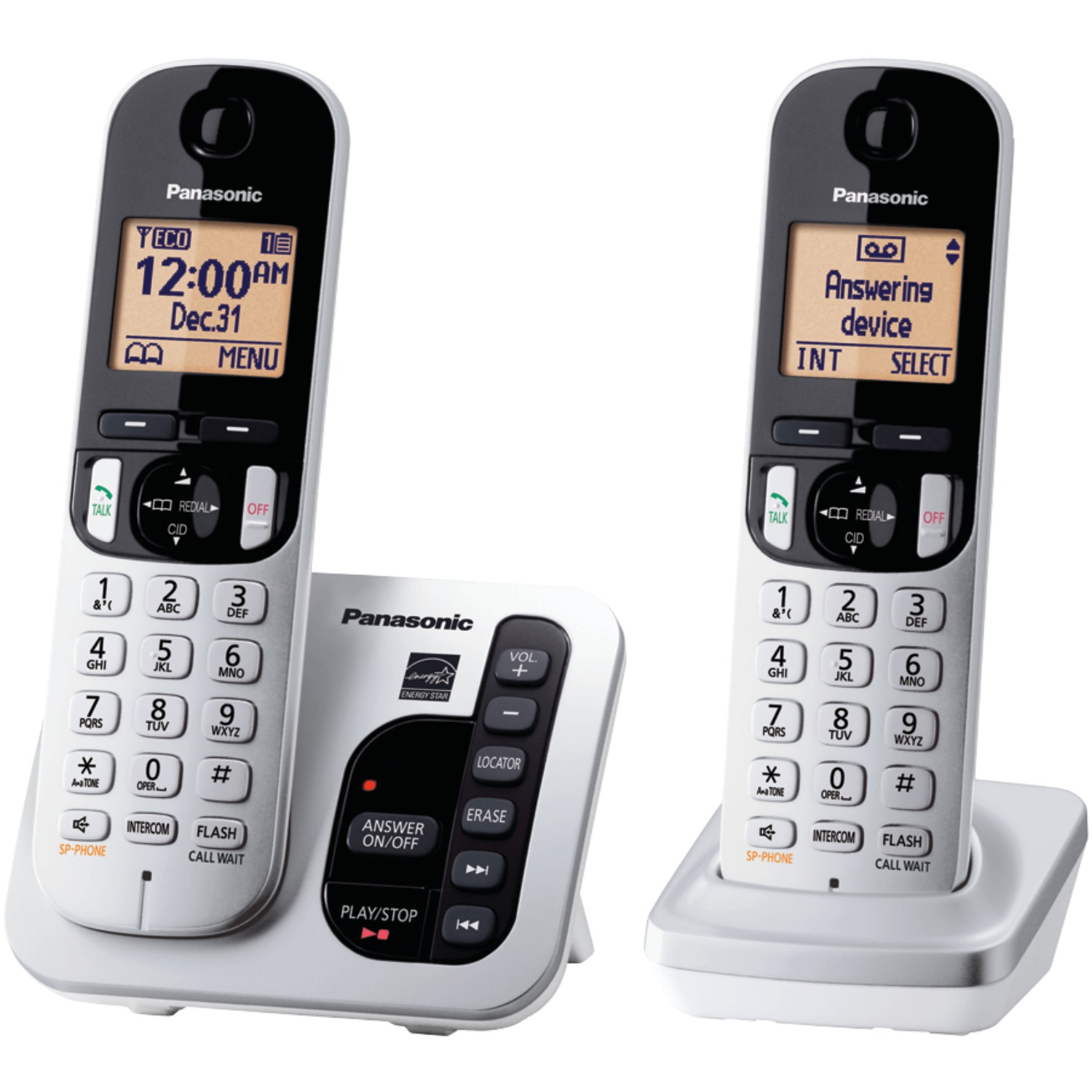 Panasonic Expandable Digital Cordless Answering System with 2 Handsets