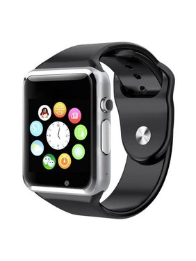 Black Bluetooth Smart Wrist Watch Phone mate for Android Samsung HTC LG Touch Screen Blue Tooth SmartWatch with Camera for Adults for Kids (Supports [does not include] SIM+MEMORY CARD) AMAZINGFORLESS