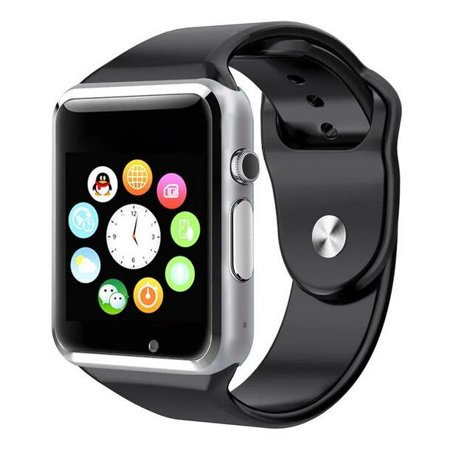 Black Bluetooth Smart Wrist Watch Phone mate for Android Samsung HTC LG Touch Screen Blue Tooth SmartWatch with Camera for Adults for Kids (Supports [does not include] SIM+MEMORY CARD)