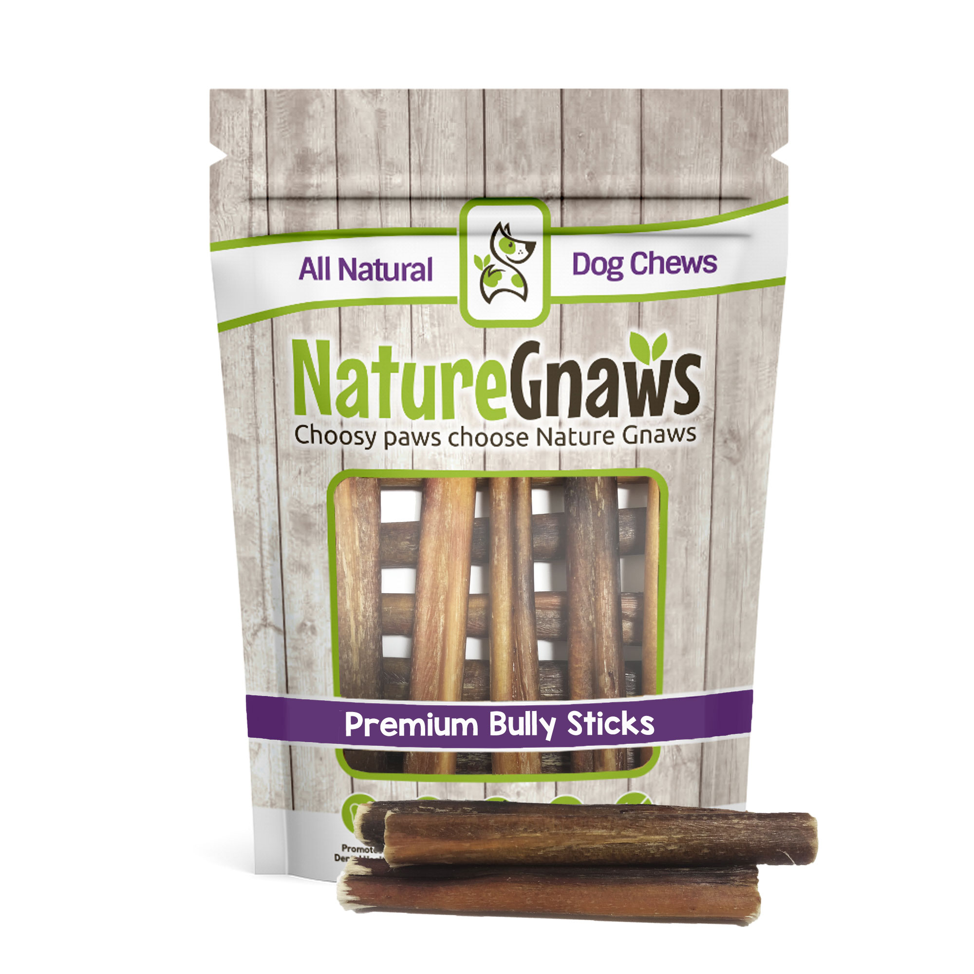 """Nature Gnaws Large Bully Sticks 5-6"""", 10 Count"""