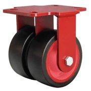 HAMILTON R-HS2-4R Dual Wheel Caster,Rubber,4 in.,600 lb.