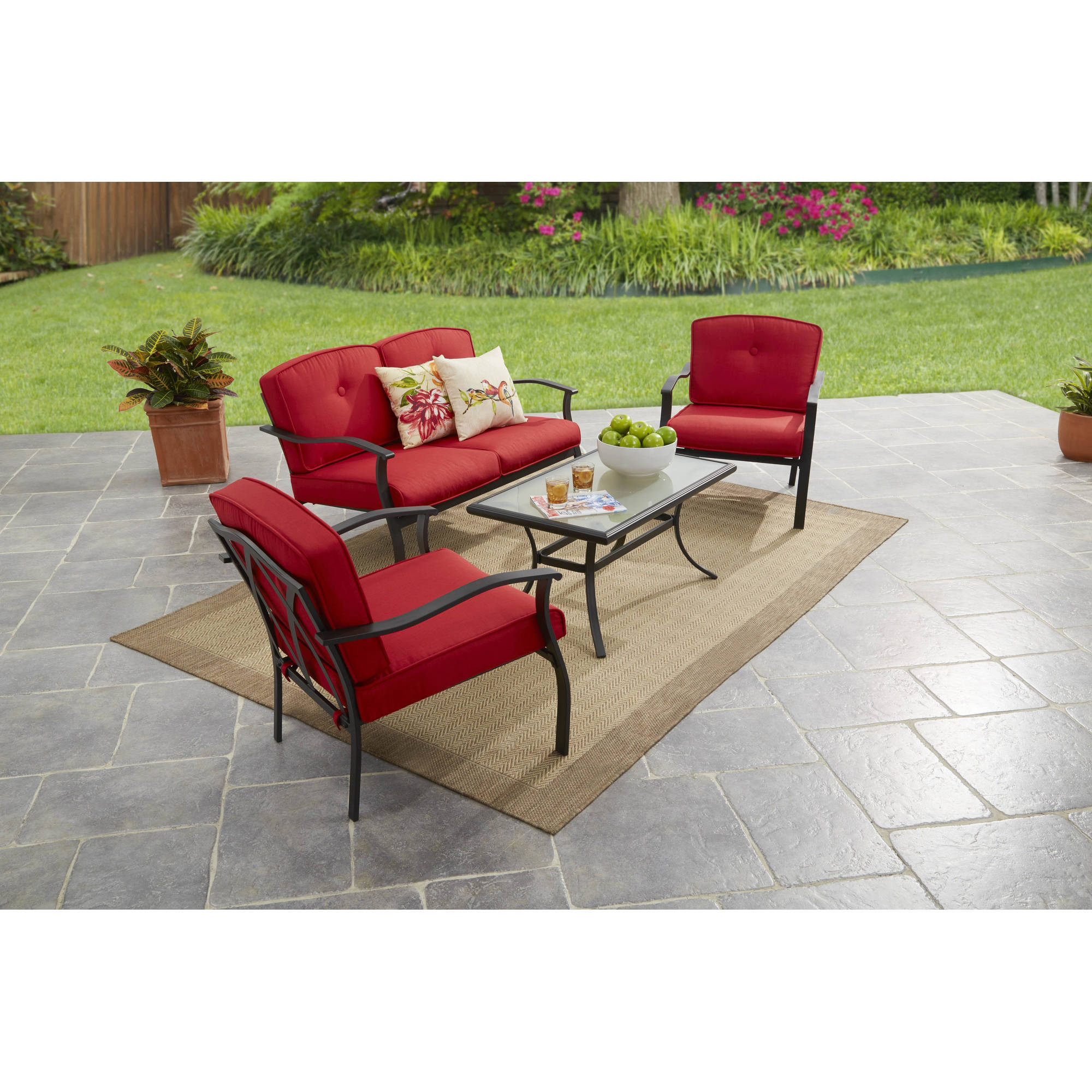 Mainstays Belden Park 4-Piece Sofa Set