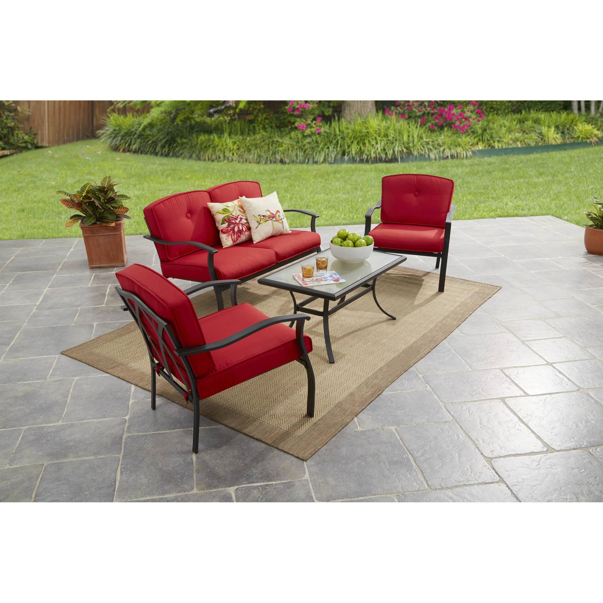 Mainstays Belden Park 4-Piece Outdoor Sofa Set, Seats 4