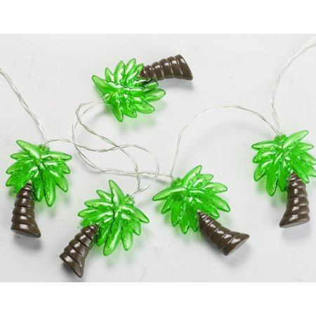Battery-Operated Palm Tree String Light (10 LED light, Runs on 2 AA batteries).;Total Length: 68