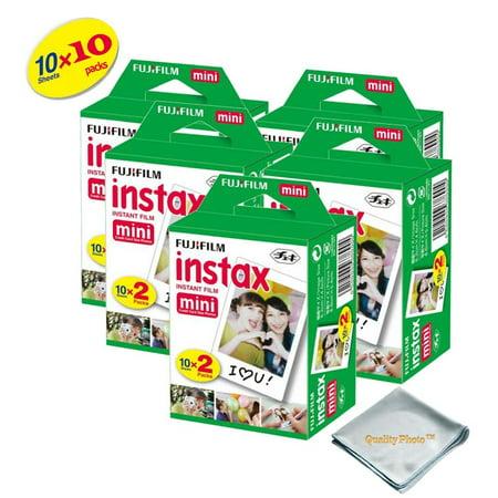Fujifilm INSTAX Mini 9 Instant Film 10 Pack 100 SHEETS (White) For Fujifilm instax Mini 9 Cameras ()