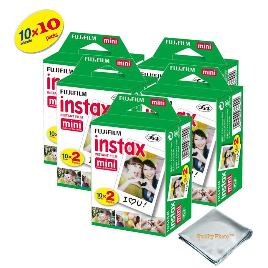 Fujifilm INSTAX Mini 9 Instant Film 10 Pack 100 SHEETS (White) For Fujifilm instax Mini 9 Cameras