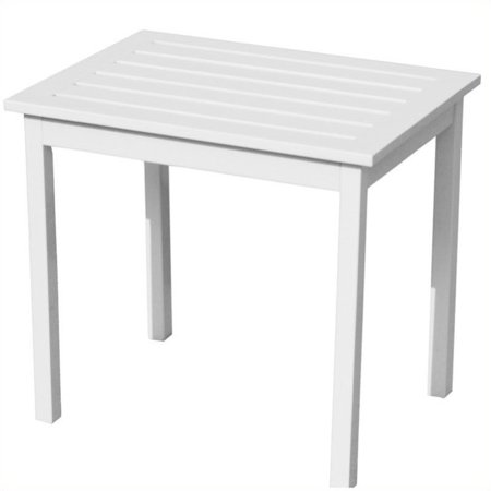 Southern Enterprises End Table in Painted White - image 1 de 2
