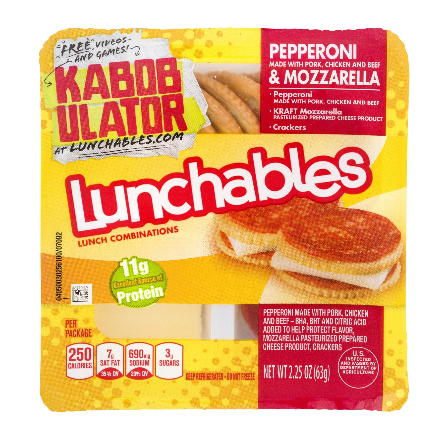Lunchables Pepperoni & Mozzarella, 2.25 OZ