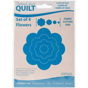 Tattered Lace Quilt Die Cut-Flower Set Of 4