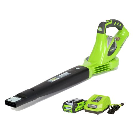 Greenworks 40V 150 MPH Variable Speed Cordless Blower, 2.0 AH Battery Included (Best Lawn Blower 2019)