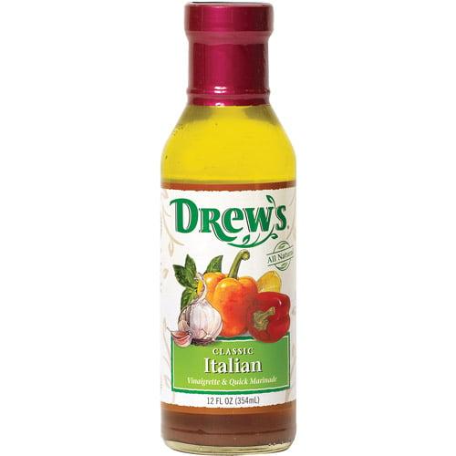 Drew's Classic Italian Vinaigrette Dressing, 12 oz (Pack of 6)