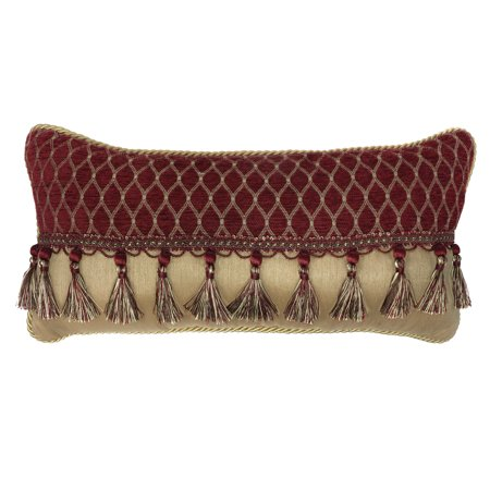 Croscill Roena Boudoir Pillow With Burgundy Finish 2A0-530O0-7030/604