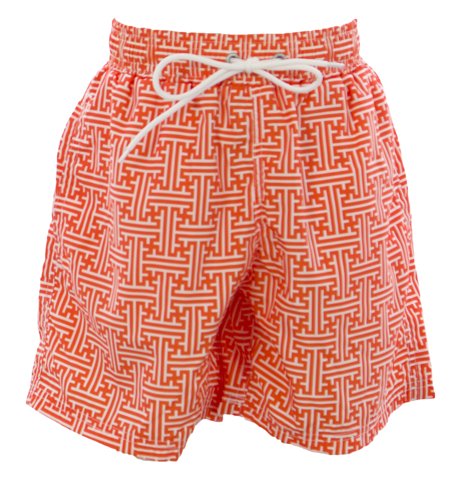 NAILA Toddler Boy's Line Printed Swim Trunks Sz 2 Years Orange