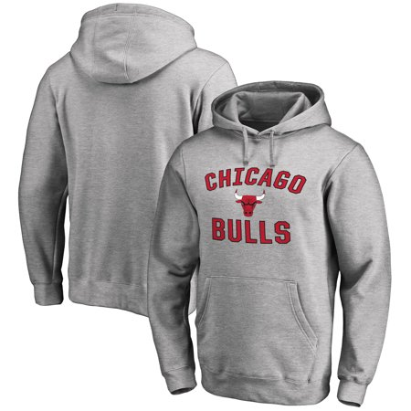 Chicago Bulls Victory Arch Pullover Hoodie - Ash (Chicago Bulls Sweatshirt)
