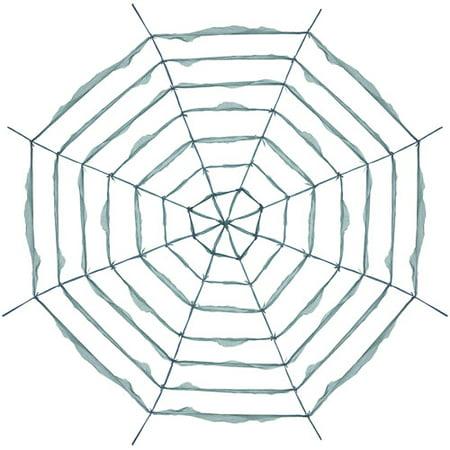 12' Giant Fabric Web Spiderweb Spider Halloween Decoration Prop Decor 12 Foot - Giant Spider Prop