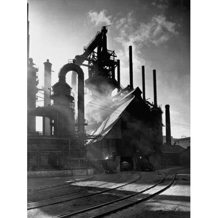 Blast Furnance at the Bethlehem Steel Works in Pennsylvania Print Wall Art - Bethlehem Georgia