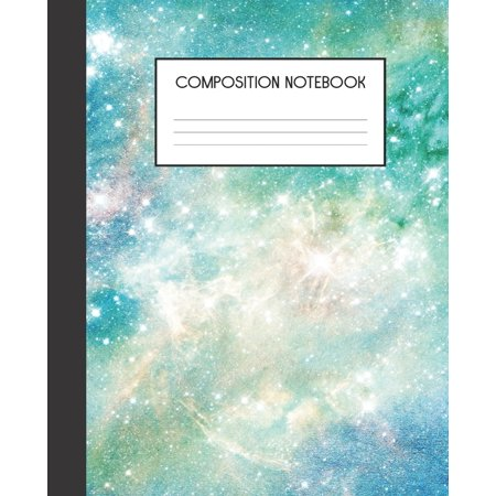 Composition Notebook: Painted Galaxy - College Ruled Notebook - Lined Journal - 100 Pages - 7.5 X 9.25