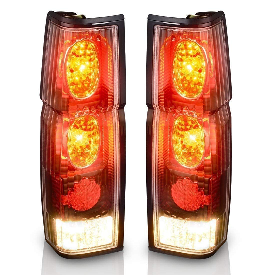 Taillights Tail Lamps For Nissan Hardbody D21 1986-1994 Hardbody Pickup 1995 1996 1997 (Black Clear Assembly Replacement D21 & Pickup Models Only)