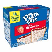 Pop-Tarts Breakfast Toaster Pastries, Frosted Strawberry, Value Pack, 27 Oz, 16 Toaster Pastries