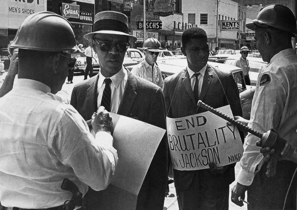 Superior WoolworthS Protest 1963 Npolice Officers Arrest Medgar Evers And Naacp  Executive Secretary Roy Wilkins While Protesting
