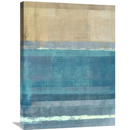 Global Gallery 'Horizon Number 2' by Ludwig Maun Painting Print on Wrapped Canvas