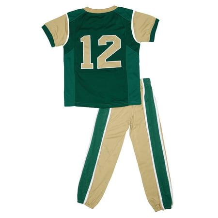 Colorado State Rams Toddler Two Piece Football Uniform Pajama Set (Green)