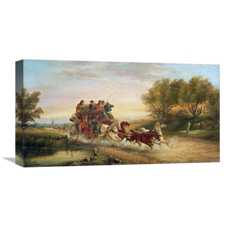 Global Gallery The Oxford To London Mail Coach By John Charles Maggs Painting Print On Wrapped Canvas