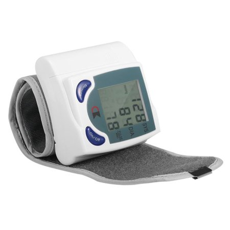 LCD Digital Wrist Blood Pressure Heart Rate Beat Pulse Systolic Accurate