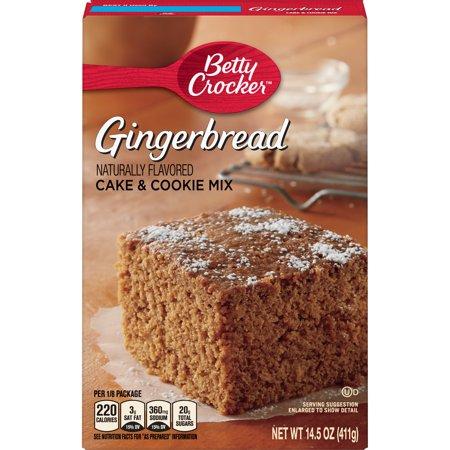 Betty Crocker Gingerbread Cake and Cookie Mix, 14.5 oz Cake Mix Set