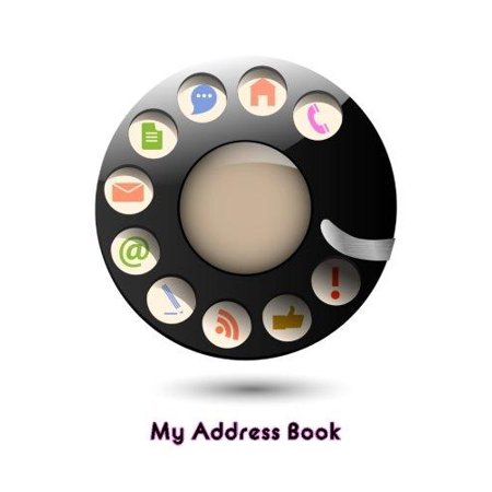 My Address Book  Retro Disc Dial  6 X 9  111 Pages