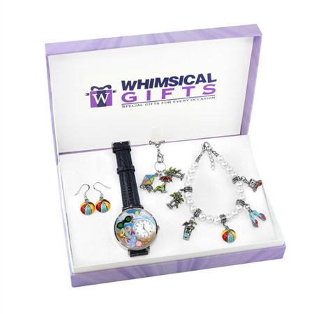 Whimsical Gifts Summer Fun in the Sun Silver 4-piece Watch-Bracelet-Necklace-Earrings Jewelry Set - image 1 of 1