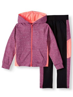 Chili Peppers Space Dye Hoodie & Colorblock Legging, 2-Piece Active Set (Little Girls & Big Girls)