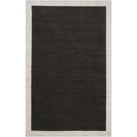 8' Simply Neutral Solid Dark Green Hand Loomed Plush Pile Round Wool Area - Plush Wool Area Rugs