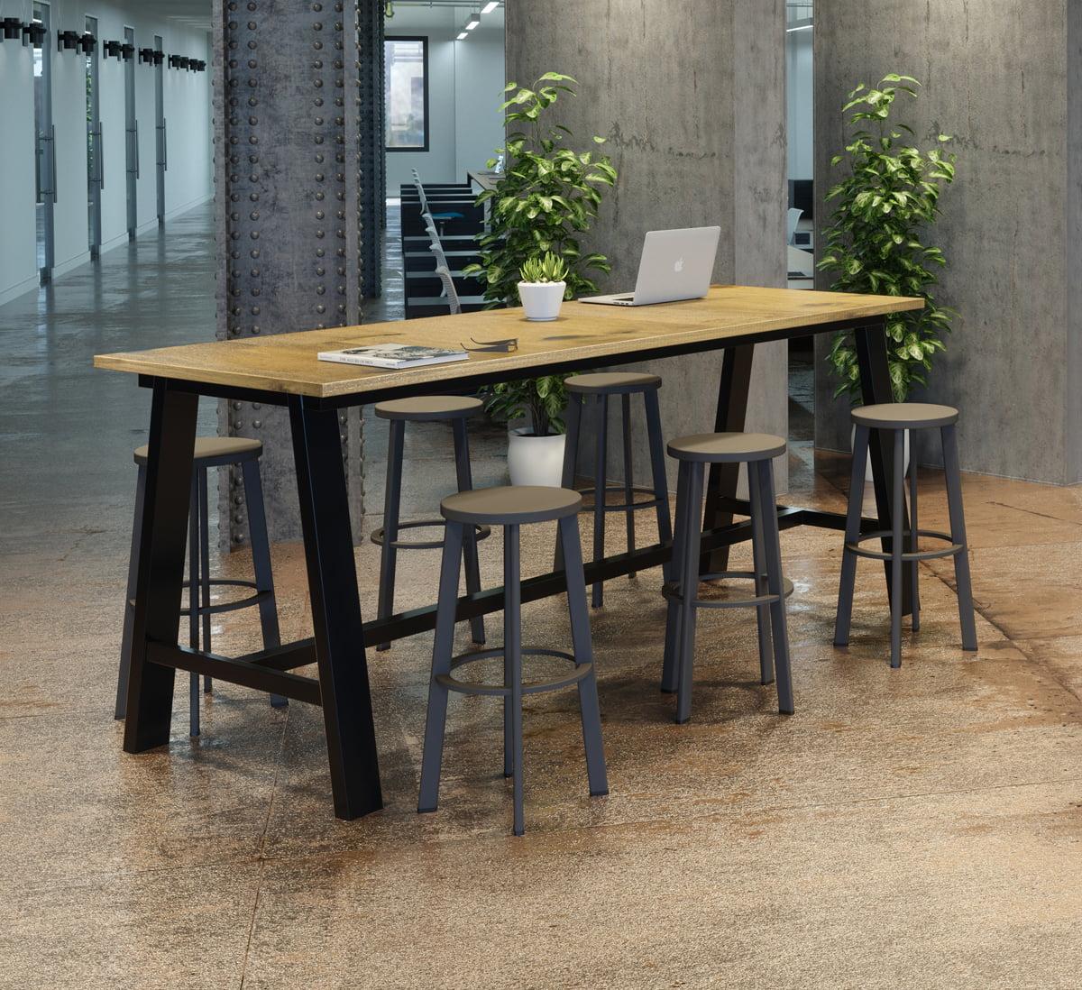 KFI Midtown 3.5 x 10 FT Multipurpose Table, Espresso Finish, Standard Height