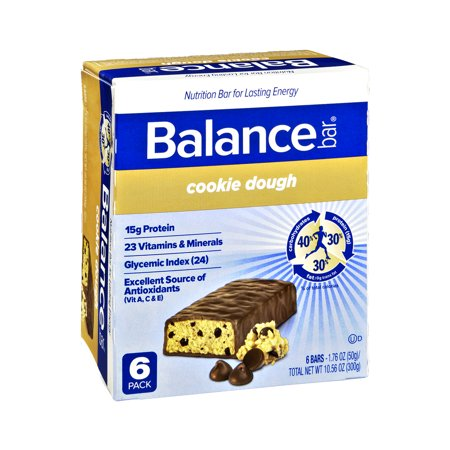 Balance Bar Cookie Dough Nutrition Bars - 6 CT