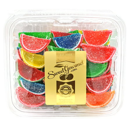 Boston Assorted Fruit Slices - Candy Fruit Jelly Slices unwrapped bulk 2.5 pounds box