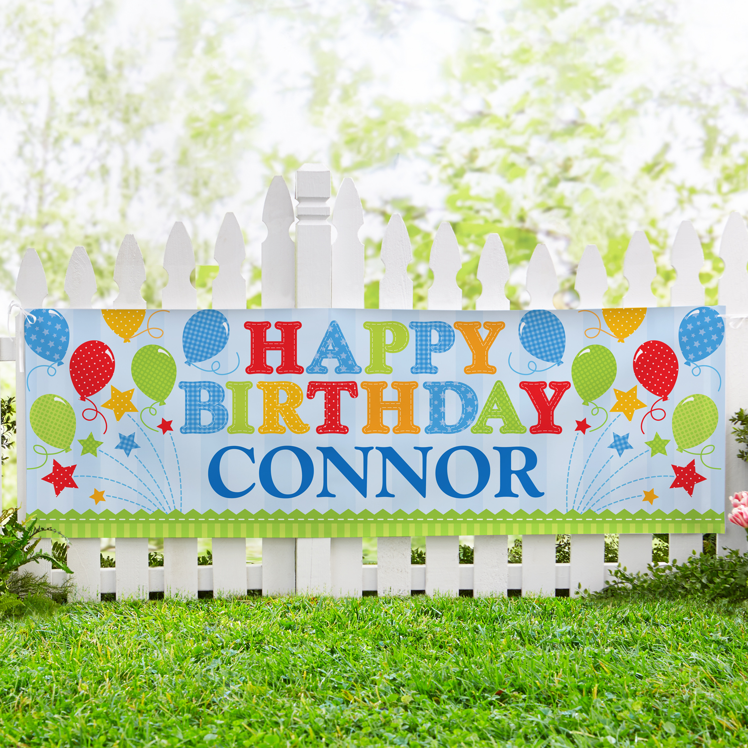 Personalized Little Firecracker Birthday Banner