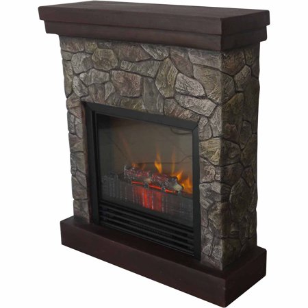 Electric Fireplace Heater Faux Stone Free Standing Tv Stand 3750 Btu Gothic Look