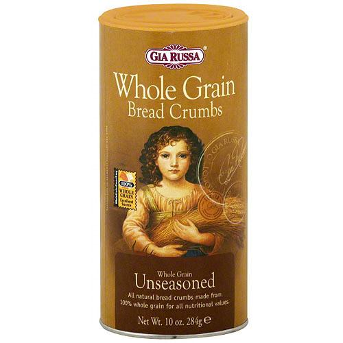 Gia Russa Whole Grain Unseasoned Bread Crumbs, 10 oz (Pack of 6)
