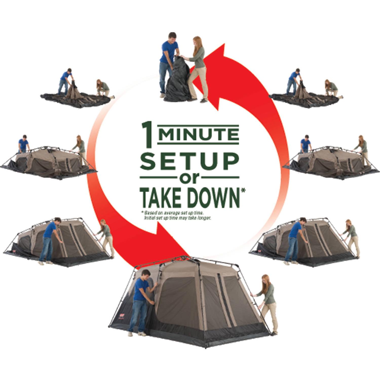 sc 1 st  Walmart & Coleman 8 Person Instant Cabin Tent - Walmart.com