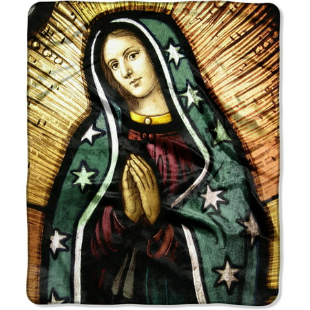 The Northwest Company American Heritage Royal Plush Blessed Mary Raschel Throw Blanket, 1 Each
