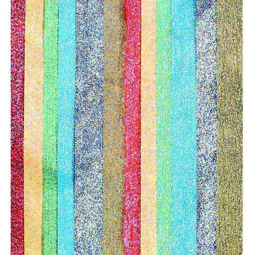 "Kolorfast Non-Bleeding Luster Tissue Paper, 20"" x 30"", Assorted Metallic Colors, Pack Of 14"