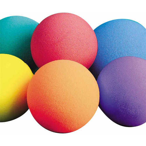 "7"" Spectrum Bright Foam Balls, Set of 6"